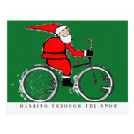CYCLING CHRISTMAS card Post Card