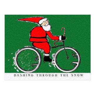 CYCLING CHRISTMAS card Post Card