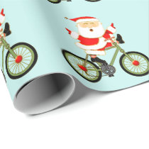 cycling Christmas Wrapping Paper