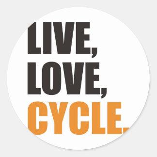 cycling classic round sticker