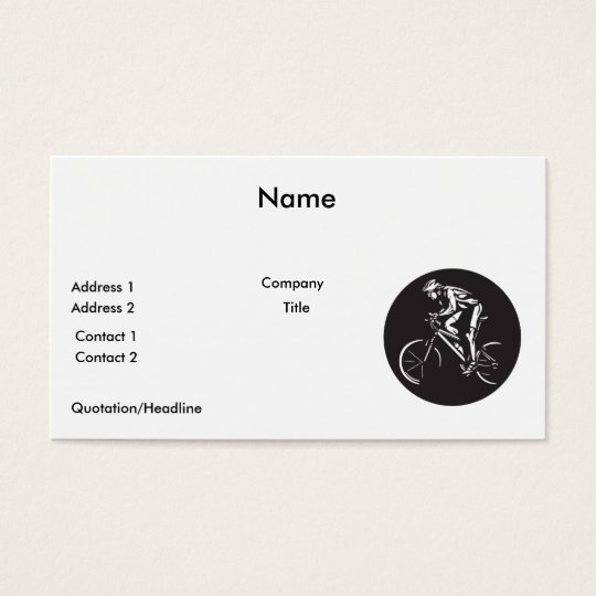 cycling clycer inverse silhouette business card