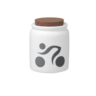 Cycling cool and unique design candy jars