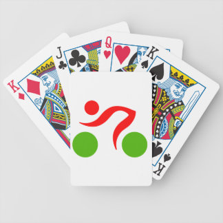 Cycling cool logo bicycle playing cards