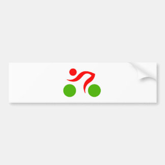 Cycling cool logo bumper sticker