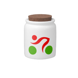 Cycling cool logo candy jars