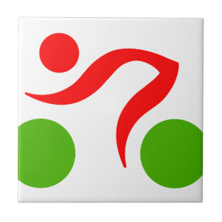 Cycling cool logo ceramic tile