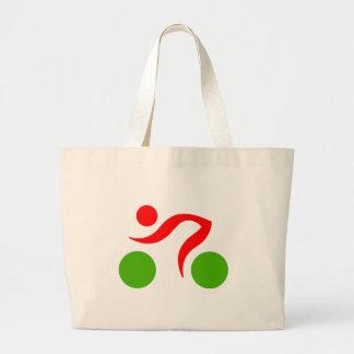 Cycling cool logo large tote bag