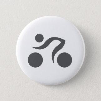 Cycling cool logo pinback button