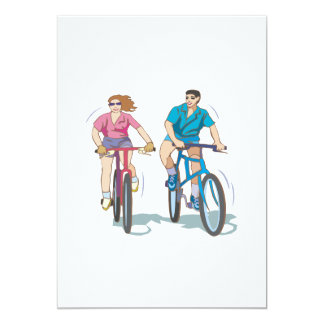 Cycling Couple Card