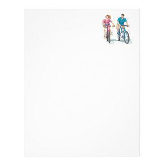 Cycling Couple Letterhead
