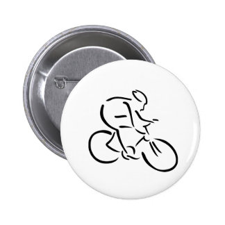 Cycling cyclist 2 inch round button