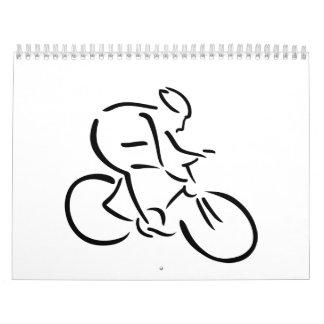 Cycling cyclist wall calendars