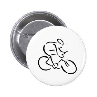 Cycling cyclist pinback button