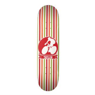 Cycling, Cyclist; Red, Orange Green Stripes Skate Decks