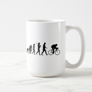Cycling Cyclists evolution Bicycle Riders Cycle Classic White Coffee Mug