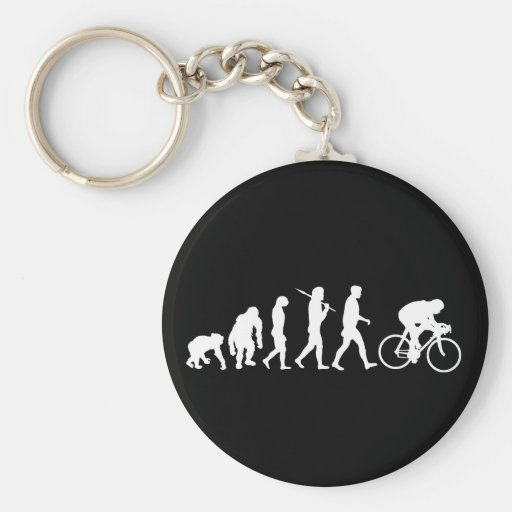 Cycling Cyclists pedal power Racing Bicycle gifts Basic Round Button Keychain