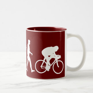Cycling Cyclists pedal power Racing Bicycle gifts Two-Tone Coffee Mug