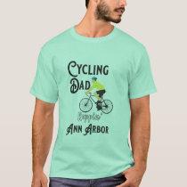 Cycling Dad Reppin' Ann Arbor T-Shirt