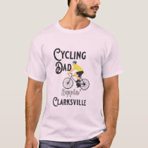 Cycling Dad Reppin' Clarksville T-Shirt