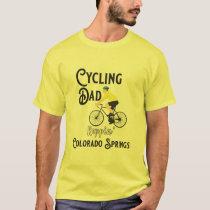 Cycling Dad Reppin' Colorado Springs T-Shirt