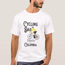 Cycling Dad Reppin' Columbia T-Shirt