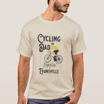 Cycling Dad Reppin' Evansville T-Shirt
