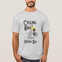 Cycling Dad Reppin' Green Bay T-Shirt