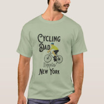 Cycling Dad Reppin'  New York T-Shirt