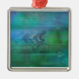 Cycling Design Decoration Metal Ornament