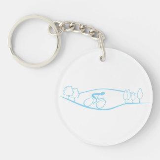 Cycling Design Key Ring
