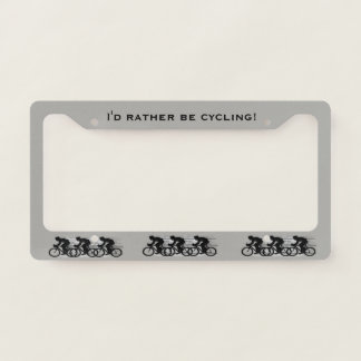 Cycling Design License Plate Frame