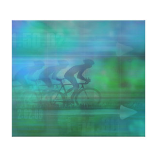 Cycling Design Stretched Canvas Print
