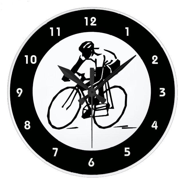 Cycling Design Wall Clock