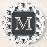 Cycling Design with Custom Monogram Beverage Coaster