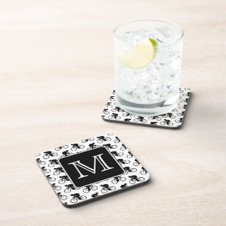 Cycling Design with Custom Monogram Drink Coaster