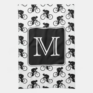 Cycling Design with Custom Monogram Kitchen Towel