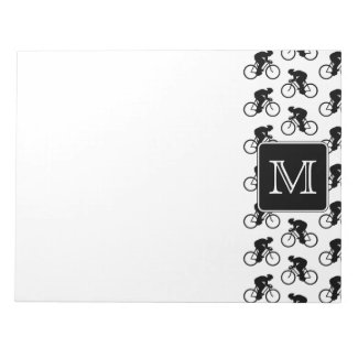 Cycling Design with Custom Monogram Memo Notepads