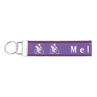Cycling Design Wrist Key Chain