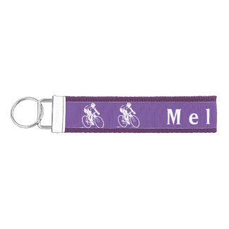 Cycling Design Wrist Key Chain Wrist Keychain