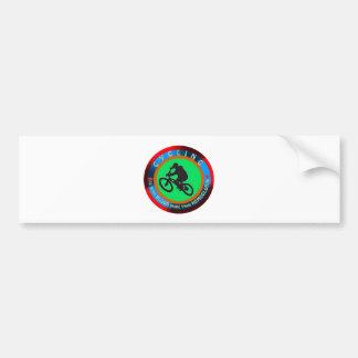 Cycling designs car bumper sticker