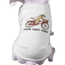 Cycling Dog with Squirrel Friend - Fun Animal Art Shirt