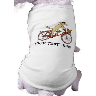 Cycling Dog with Squirrel Friend - Fun Animal Art Shirt