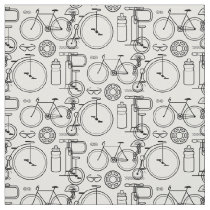 Cycling Essentials Bicycle Print Fabric