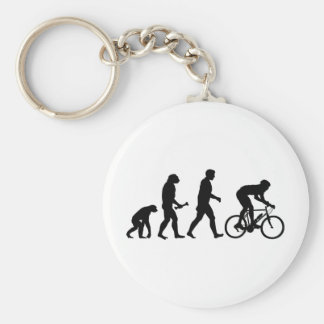 Cycling Evolution Basic Round Button Keychain