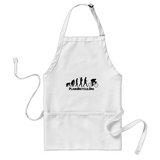 Cycling evolution College Style PlanoBicycle Logo Adult Apron