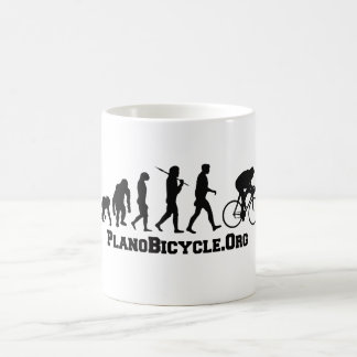 Cycling evolution College Style PlanoBicycle Logo Coffee Mug