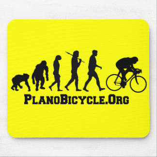 Cycling evolution College Style PlanoBicycle Logo Mouse Pad
