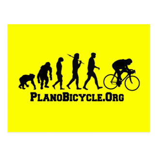 Cycling evolution College Style PlanoBicycle Logo Postcard