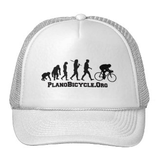 Cycling evolution College Style PlanoBicycle Logo Trucker Hat