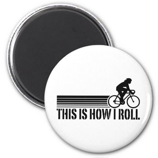 Cycling (female) 2 inch round magnet